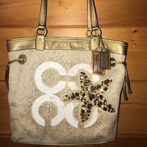 COACH Audrey Starfish Canvas Tote, Ltd Edition
